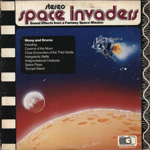 Cover Unknown Artist - Space Invaders - Sound Effects From A Fantasy Space Mission (LP, Blu) Schallplatten Ankauf