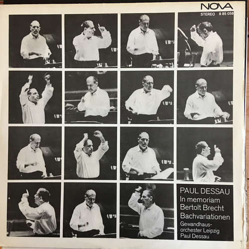 Cover Paul Dessau - In Memoriam Bertolt Brecht - Bachvariationen Für Großes Orchester (LP, RE) Schallplatten Ankauf