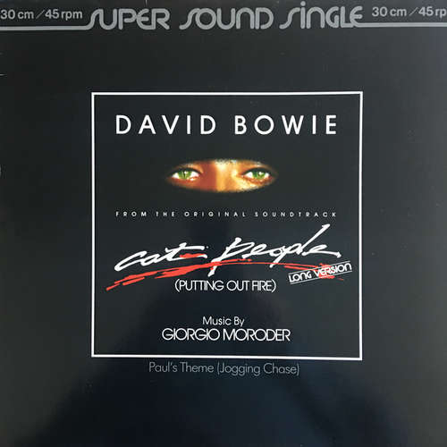 Cover David Bowie Music By Giorgio Moroder - Cat People (Putting Out Fire) (Long Version) (From The Original Soundtrack) (12, Single) Schallplatten Ankauf