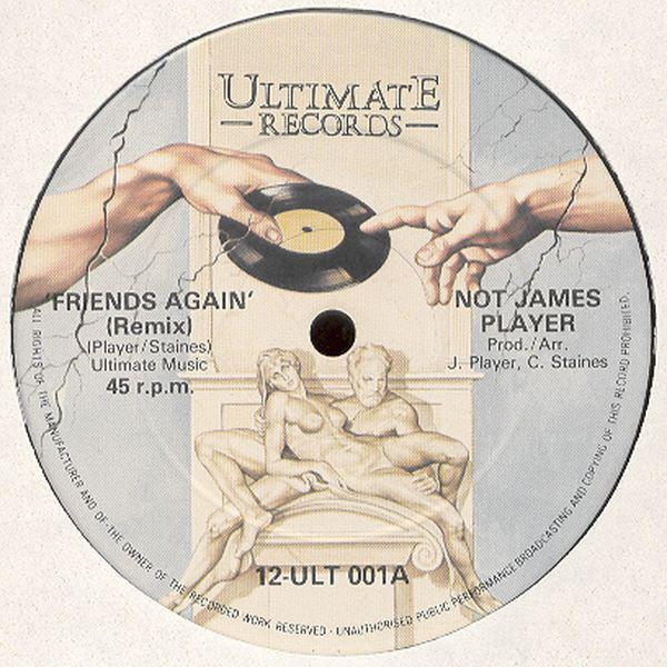 Cover Not James Player - Friends Again (Remix) (12) Schallplatten Ankauf