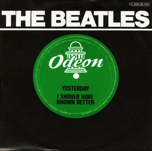 Cover The Beatles - Yesterday / I Should Have Known Better (7, RE) Schallplatten Ankauf