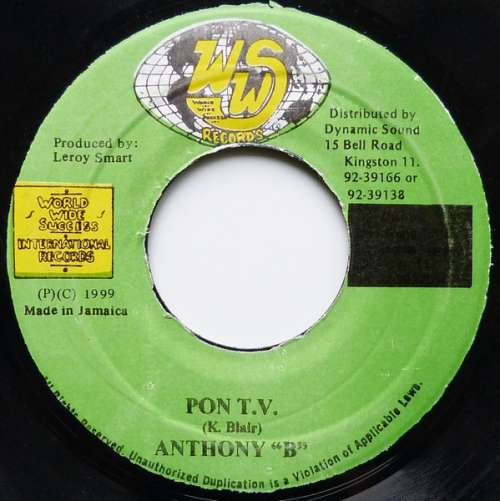 Bild Anthony B - Pon T.V. (7) Schallplatten Ankauf