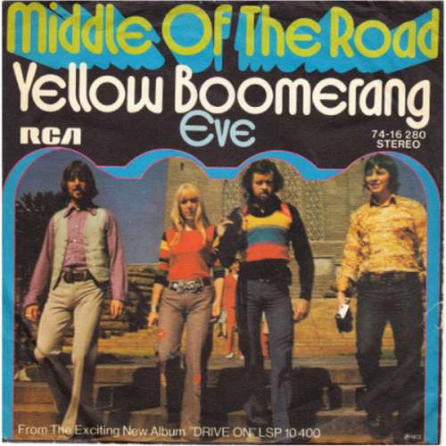 Cover Middle Of The Road - Yellow Boomerang (7, Single) Schallplatten Ankauf