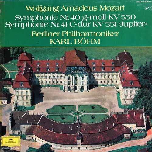 Cover zu Wolfgang Amadeus Mozart, Berliner Philharmoniker, Karl Böhm - Symphonie Nr. 40 g-moll KV 550 - Symphonie Nr. 41 C-dur KV 551 »Jupiter« (LP, Album, Club) Schallplatten Ankauf
