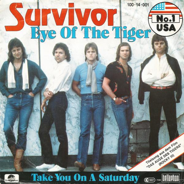 Cover Survivor - Eye Of The Tiger (7, Single) Schallplatten Ankauf