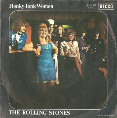 Cover The Rolling Stones - Honky Tonk Women / You Can't Always Get What You Want (7, Single) Schallplatten Ankauf