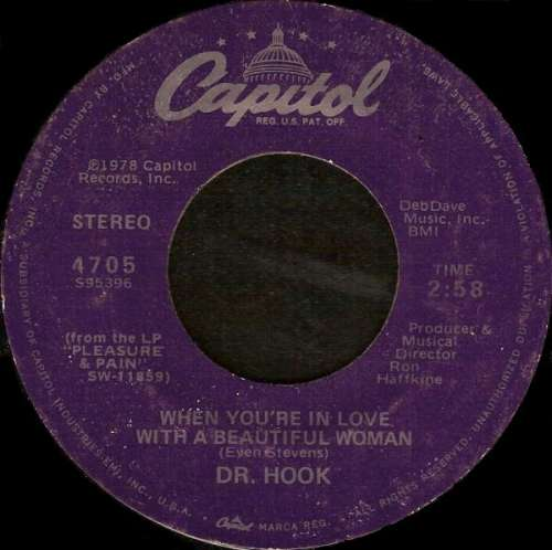 Cover zu Dr. Hook - When You're In Love With A Beautiful Woman (7, Single, Jac) Schallplatten Ankauf