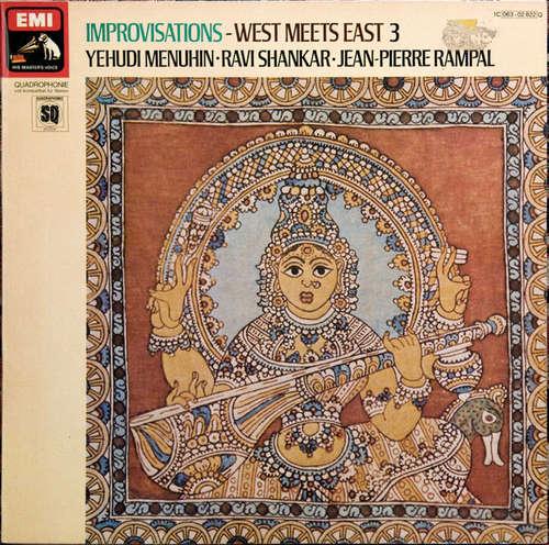 Bild Yehudi Menuhin · Ravi Shankar · Jean-Pierre Rampal - Improvisations - West Meets East 3 (LP, Quad) Schallplatten Ankauf
