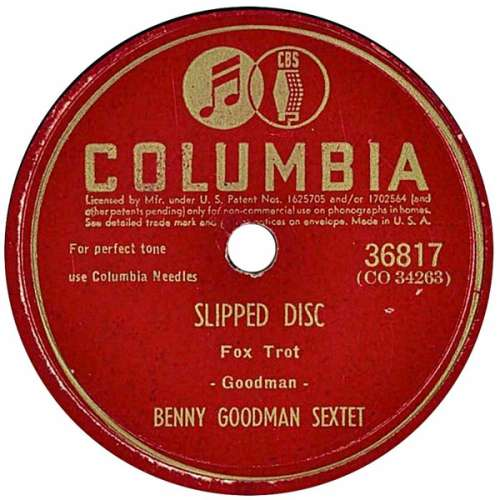 Bild Benny Goodman Sextet - Slipped Disc / Oomph Fah Fah (Shellac, 10) Schallplatten Ankauf