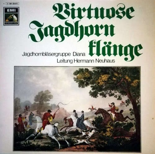 Cover Jagdhornbläsergruppe Diana - Virtuose Jagdhornklänge (LP) Schallplatten Ankauf