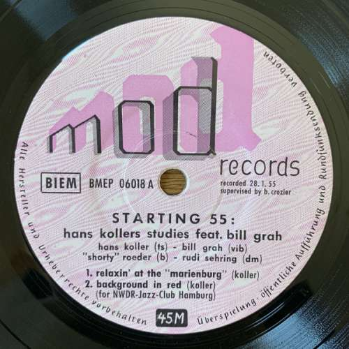 Cover Hans Koller (2) - Starting 55 (7) Schallplatten Ankauf