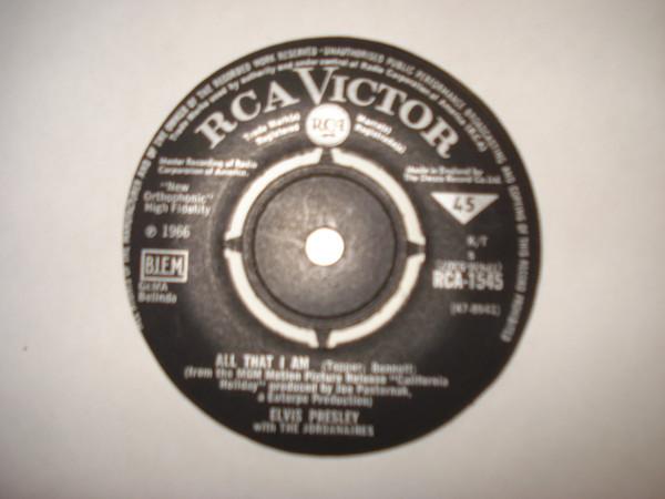 Cover Elvis Presley With The Jordanaires - All That I Am (7, Single) Schallplatten Ankauf