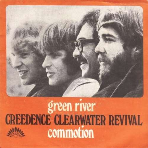 Cover zu Creedence Clearwater Revival - Green River / Commotion (7, Single) Schallplatten Ankauf