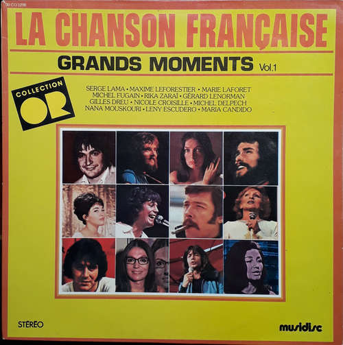 Cover Various - La Chanson Française - Grands Moments - Vol. 1 (LP, Comp) Schallplatten Ankauf