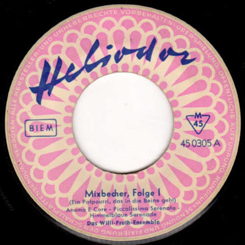 Cover Willi Fruth-Ensemble - Mixbecher, Folge I (7) Schallplatten Ankauf