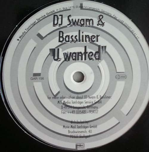 Cover DJ Swam & Bassliner* - U Wanted (12) Schallplatten Ankauf