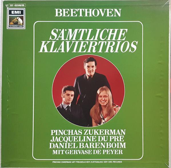 Cover Ludwig van Beethoven - Pinchas Zukerman, Daniel Barenboim, Jacqueline Du Pré, Gervase de Peyer - Sämtliche Klaviertrios (5xLP) Schallplatten Ankauf