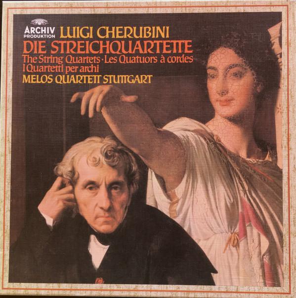Cover Luigi Cherubini, Melos Quartett - Die Streichquartette (3xLP + Box) Schallplatten Ankauf