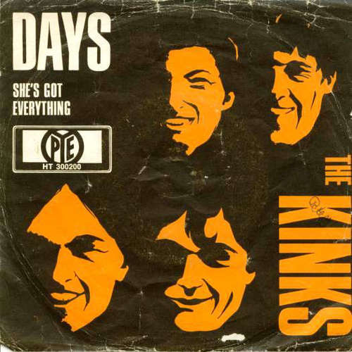Cover The Kinks - Days (7, Single, Mono) Schallplatten Ankauf