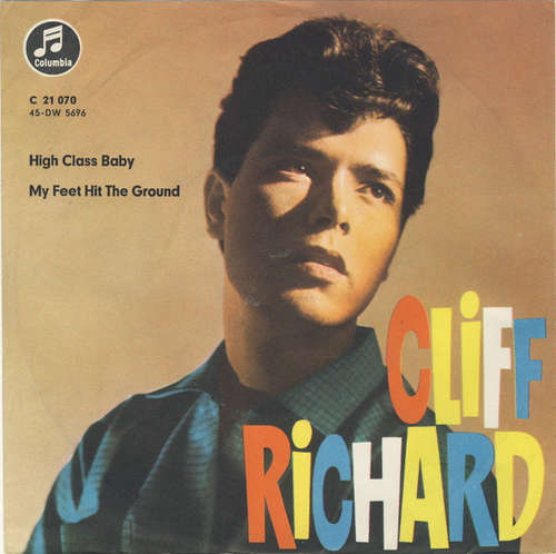 Cover Cliff Richard & The Drifters - My Feet Hit The Ground / High Class Baby (7, Single) Schallplatten Ankauf