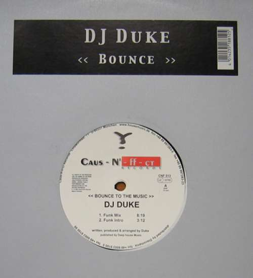 Cover DJ Duke - Bounce To The Music (12) Schallplatten Ankauf