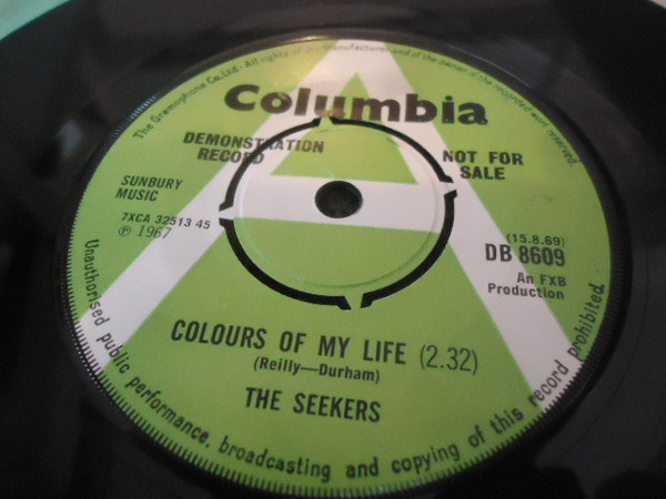 Cover The Seekers - Colours Of My Life (7, Promo) Schallplatten Ankauf