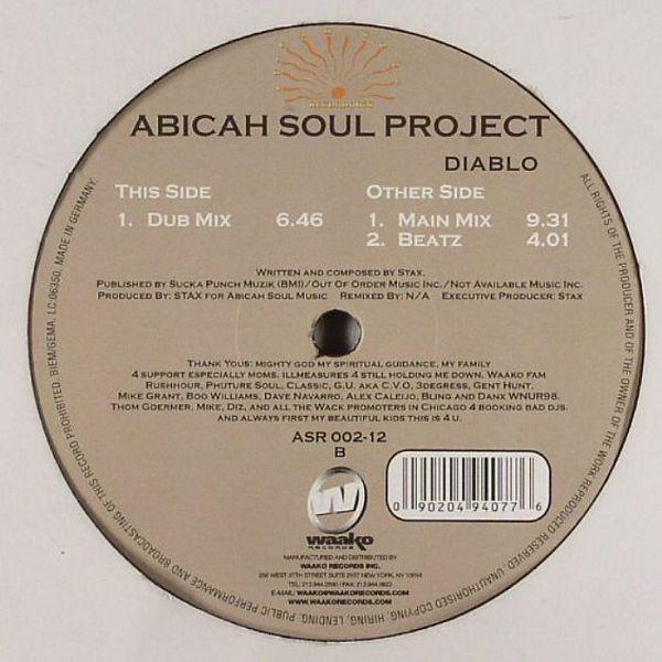 Cover Abicah Soul Project - Diablo (12) Schallplatten Ankauf