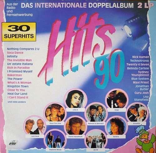 Cover Various - Hits 90 - Das Internationale Doppelalbum (2xLP, Comp) Schallplatten Ankauf