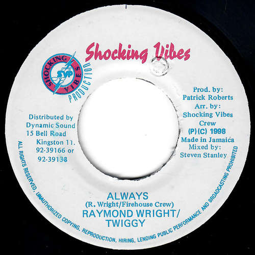 Cover Raymond Wright & Twiggy - Always (7, Single) Schallplatten Ankauf