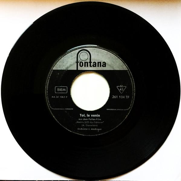 Cover Orchester J. Medinger* - Toi, Le Venin / Blues À La Nuit (7, Single) Schallplatten Ankauf