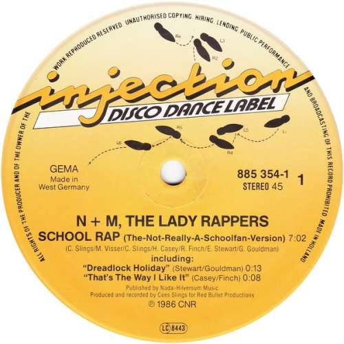 Cover N + M, The Lady Rappers* - School Rap (12) Schallplatten Ankauf