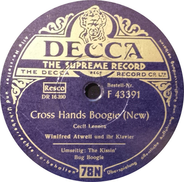 Cover Winifred Atwell And Her Piano*, The Stargazers - Cross Hands Boogie / The Kissin´ Bug Boogie (Shellac, 10) Schallplatten Ankauf