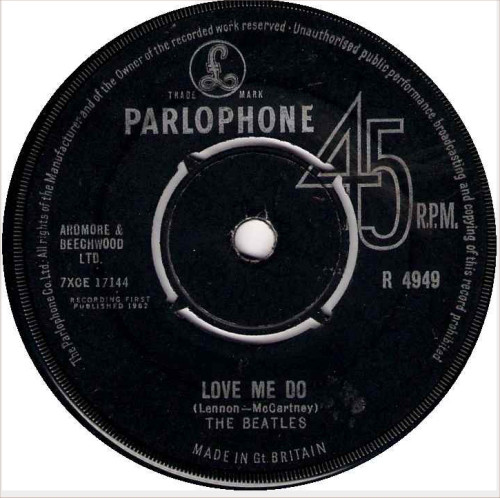 Cover The Beatles - Love Me Do (7, Single, RP) Schallplatten Ankauf