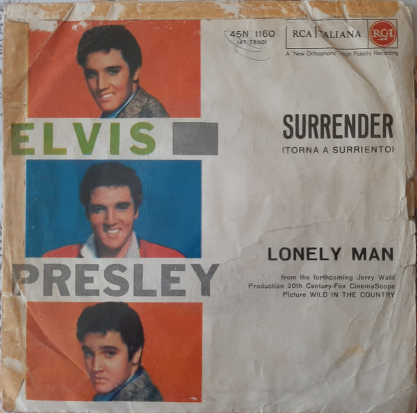 Cover Elvis Presley - (Surrender) Torna A Surriento / Lonely Man (7) Schallplatten Ankauf
