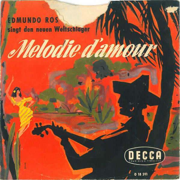 Cover Edmundo Ros - Melodie D'amour (7, Single, Mono) Schallplatten Ankauf