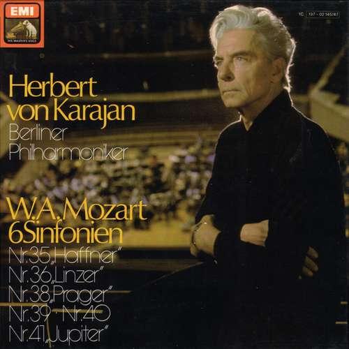 Bild Herbert von Karajan, Berliner Philharmoniker - W.A. Mozart* - 6 Sinfonien: Nr. 35 Haffner, Nr. 36 Linzer, Nr. 38 Prager, Nr. 39, Nr. 40, Nr. 41 Jupiter (Box + 3xLP) Schallplatten Ankauf
