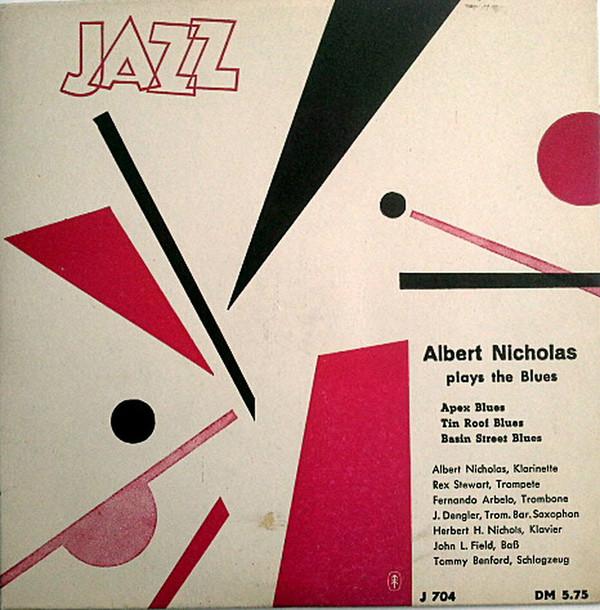 Cover Albert Nicholas - Plays The Blues (7, EP, Mono) Schallplatten Ankauf