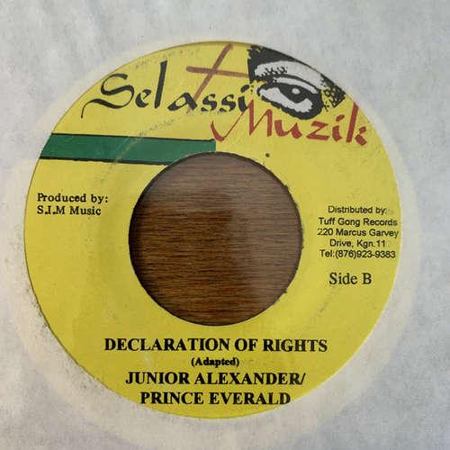 Cover Junior Alexander, Prince Everald - Declaration Of Rights (7) Schallplatten Ankauf