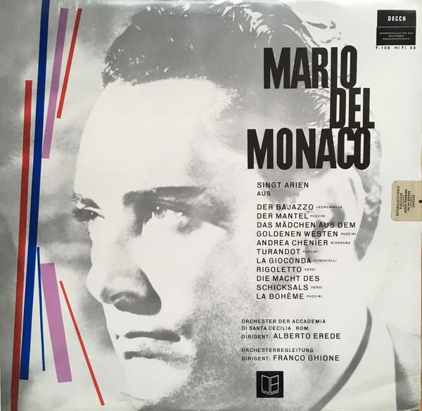 Cover zu Mario del Monaco, Alberto Erede, Franco Ghione - Mario Del Monaco Singt Arien (LP, Comp, Mono, Club) Schallplatten Ankauf