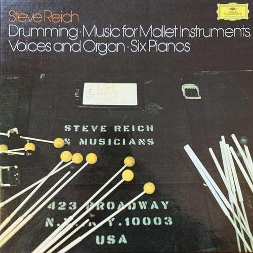 Cover Steve Reich - Drumming / Music For Mallet Instruments, Voices And Organ / Six Pianos (3xLP, RE + Box) Schallplatten Ankauf
