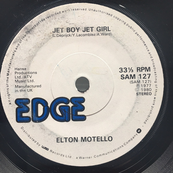 Bild Elton Motello - Jet Boy Jet Girl (7, S/Sided, Single) Schallplatten Ankauf