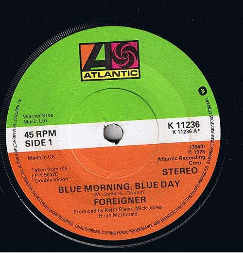 Bild Foreigner - Blue Morning, Blue Day (7, Single, Sol) Schallplatten Ankauf