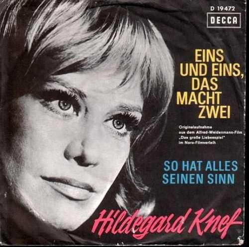 Bild Hildegard Knef - Eins Und Eins, Das Macht Zwei / So Hat Alles Seinen Sinn (7, Single) Schallplatten Ankauf