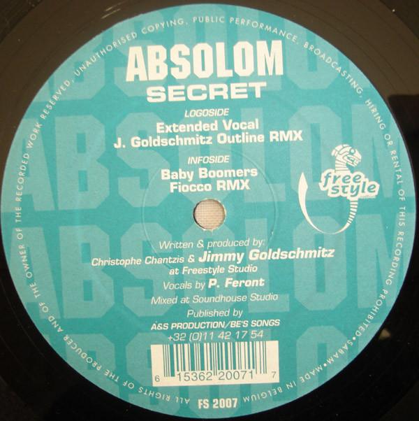 Cover Absolom - Secret (12) Schallplatten Ankauf
