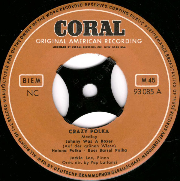 Cover Jackie Lee (5) - Crazy Polka (7, Single, Mono) Schallplatten Ankauf