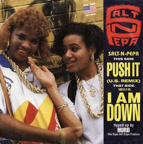 Cover zu Salt-N-Pepa* - Push It (U.S. Remix) / I Am Down (7, Single) Schallplatten Ankauf