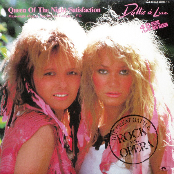 Cover Dollie De Luxe - Queen Of The Night / Satisfaction (12, Maxi) Schallplatten Ankauf