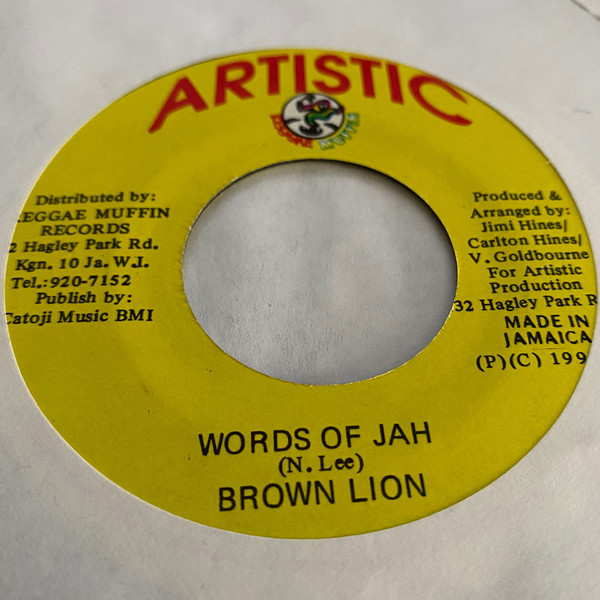 Bild Brown Lion - Words Of Jah (7, Single) Schallplatten Ankauf
