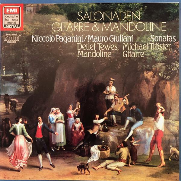 Cover Detlef Tewes, Michael Tröster, Niccolò Paganini, Mauro Giuliani (2) - Salonaden Gitarre und Mandoline (LP, DMM) Schallplatten Ankauf