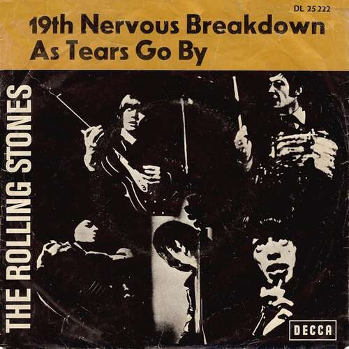 Cover zu The Rolling Stones - 19th Nervous Breakdown / As Tears Go By (7, Single) Schallplatten Ankauf